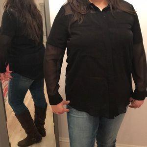 Cute black cashmere top